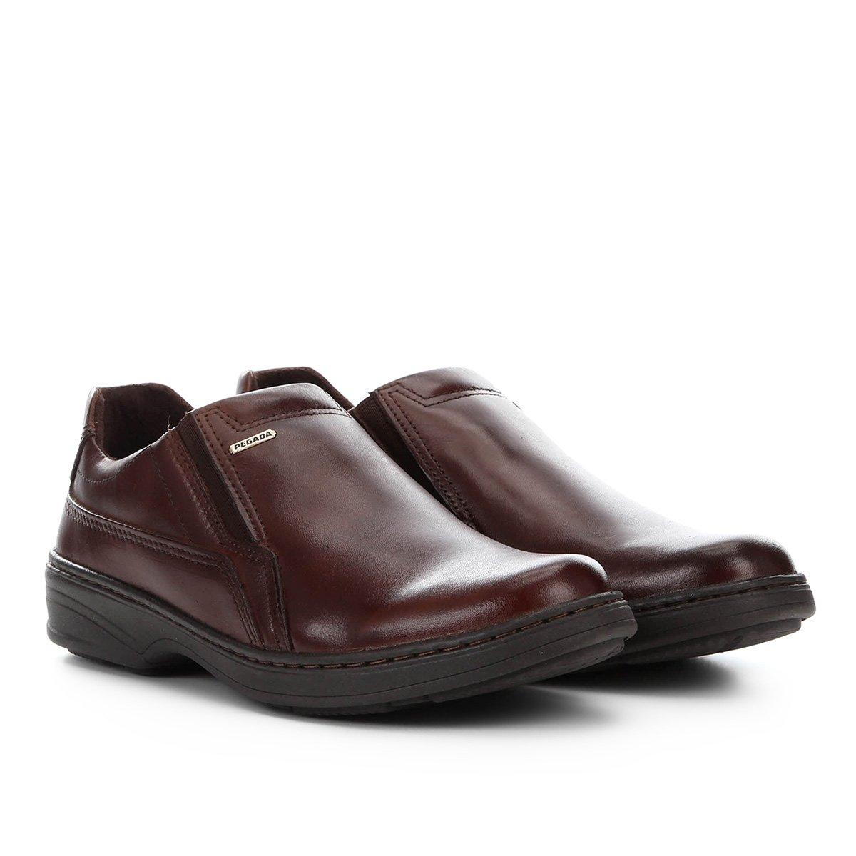 Sapato Social Couro Pegada Bico Redondo