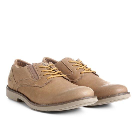2a79b0a3b65 Sapato Casual Couro Kildare com Cadarço Masculino - Bege - Compre ...