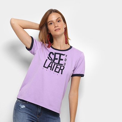 Camiseta Colcci Estampada See You Later Feminina