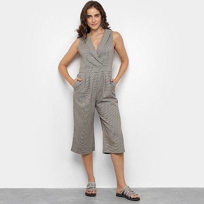 Macacão Lily Fashion Pantacourt Feminino