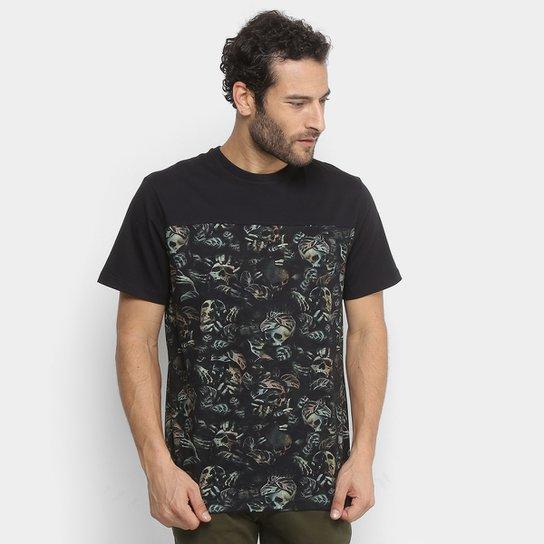 39fbc9a0a33a6 Camiseta MCD Especial Nightmare Masculina - Bege e Preto - Compre ...