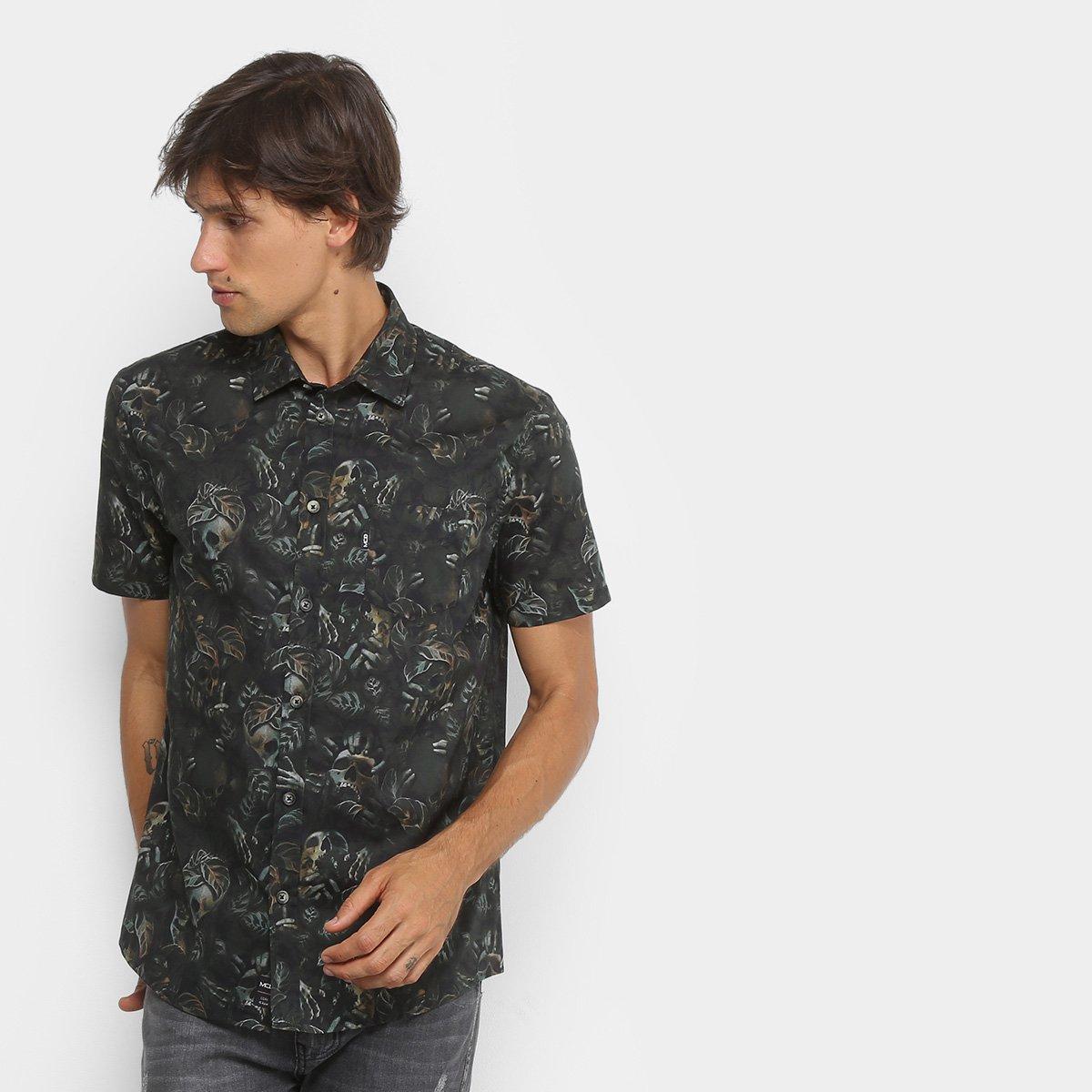 390dfabc4 Camisa MCD Manga Curta Estampada Masculina