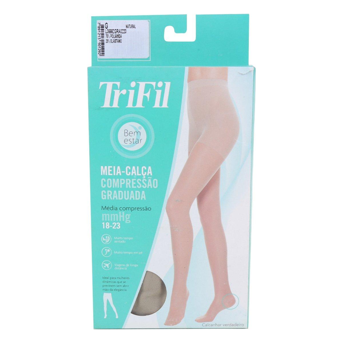 Meia Calça Trifil Comprenssão Fio140 Feminina