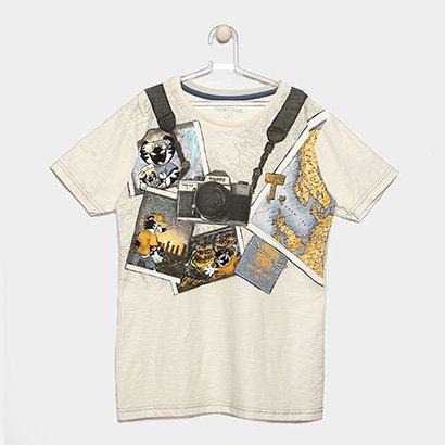 Camiseta Infantil Tigor T Tigre Estampada Masculina