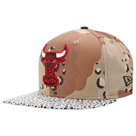 d0eec91b58b5e Boné New Era NBA 5950 Chicago Bulls - Bege - Compre Agora