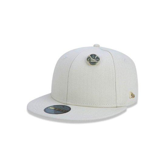 Boné 5950 Golden State Warriors NBA Aba Reta New Era - Bege - Compre ... c999e13217d