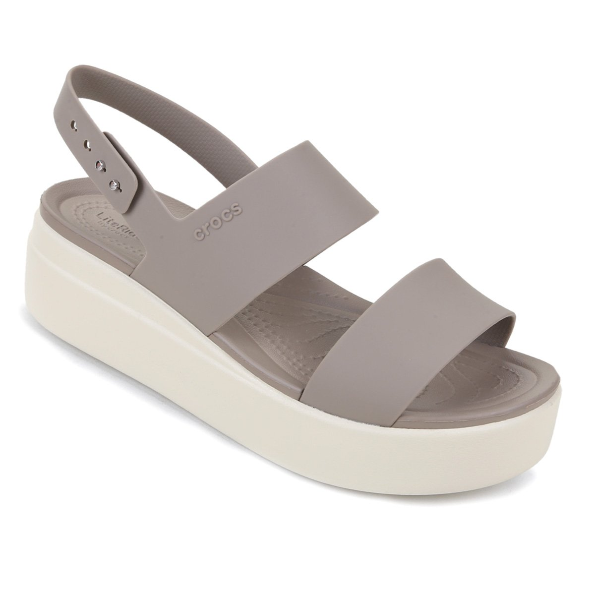 Sandália Flatform Crocs Brooklyn Low Wedge Feminina