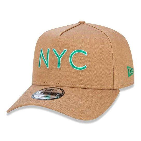 Boné New Era 940 A-Frame Veranito NYC - Bege - Compre Agora  b1697e922ec65