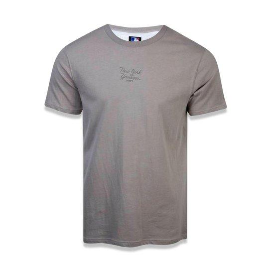 Camiseta New York Yankees MLB New Era Masculina - Bege - Compre ... d728f3163f0