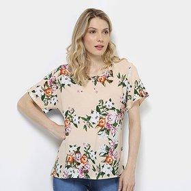 Camisa Diamante Manga Curta Feminina - Compre Agora  127786c36fe