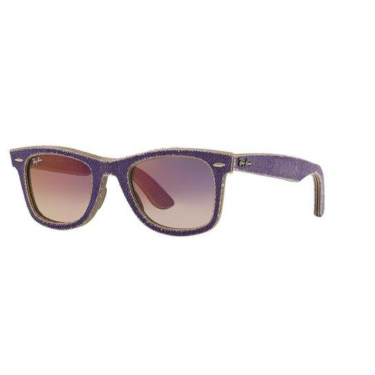 5d9de4848 Óculos de Sol Ray-Ban RB2140 Original Wayfarer Denim - Violeta ...