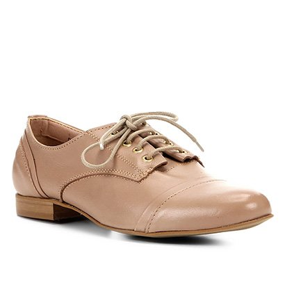 Oxford Couro Shoestock Basic Confort Feminina