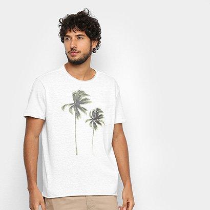 Camiseta Osklen Pocket Canhamo Coqueiros Masculina