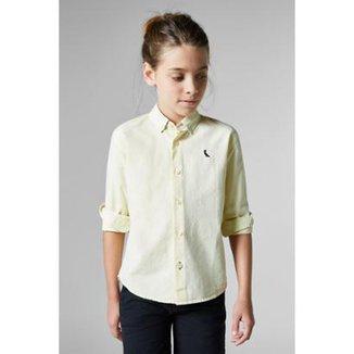 a7ae92280d Camisa Masculina Infantil Mini Pf Regular Oxford Reserva Mini
