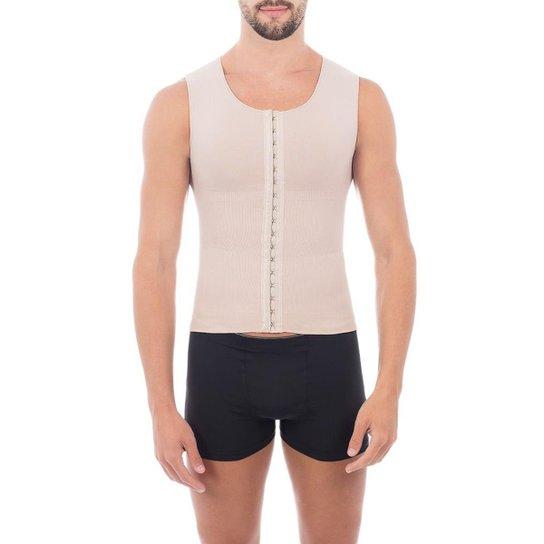 Cinta modeladora masculina slim compressão melhora postura colete Pliè -  Bege 6cf6393af52