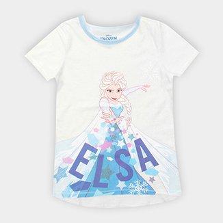 f0830f248d Camiseta Infantil Disney Frozen Elsa Feminina