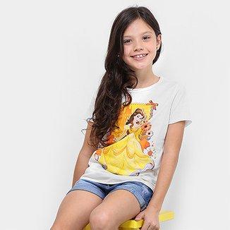 Camiseta Infantil Disney Bela Feminina d9e8895ab0970