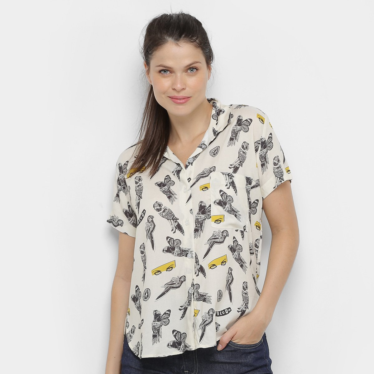 Camisa Volcom Bird Toss Feminina