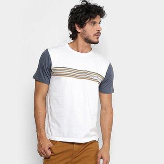 Camiseta Quiksilver Slim Fit Striper Masculina e122d61b67e