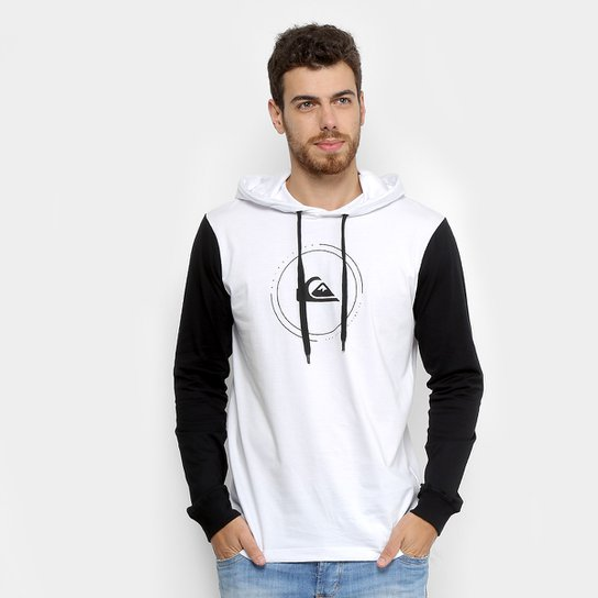 b8086d0996c Camiseta Quiksilver Manga Longa Big Logo c  Capuz Masculina - Compre ...