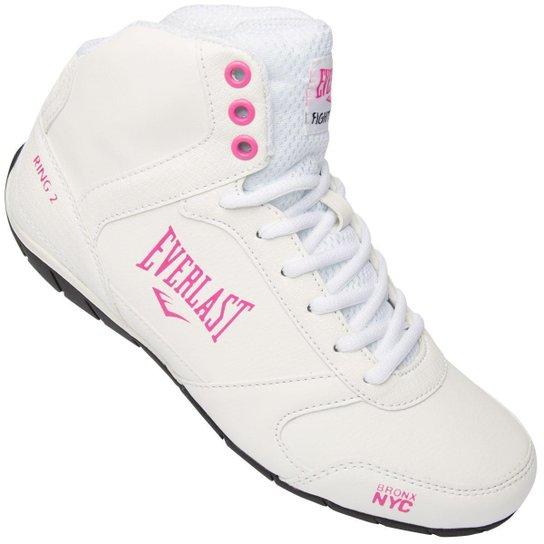 8517d5a8c Tênis Everlast Ring II Feminino - Branco e Pink - Compre Agora ...