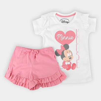 Pijama Infantil Evanilda Disney Minnie Primeiros Passos Feminino