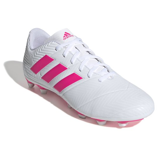 971ba6099 Chuteira Campo Adidas Nemeziz 18 4 FG - Branco e Pink | Netshoes