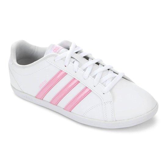 62c09dd3f Tênis Adidas Coneo QT Feminino - Branco e Pink | Netshoes