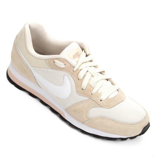 Tênis Nike Md Runner 2 Feminino - Bege e Branco - Compre Agora ... 9df01c622a5f6
