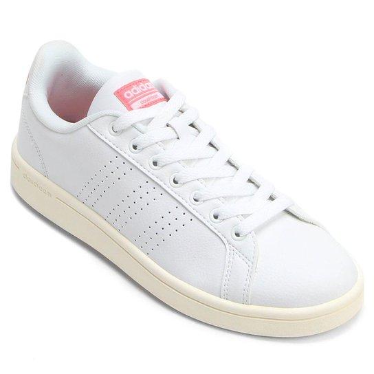 f931e6719fa Tênis Couro Adidas Cf Advantage Clean Feminino - Compre Agora