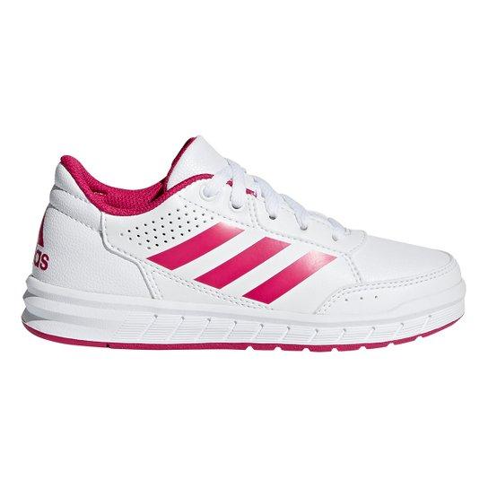 10f0617af9bc4 Tênis Infantil Adidas Altasport K - Branco e Pink - Compre Agora ...