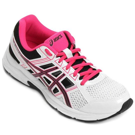 83639edd8db Tênis Asics Gel Contend 4 A Feminino - Branco e Pink - Compre Agora ...