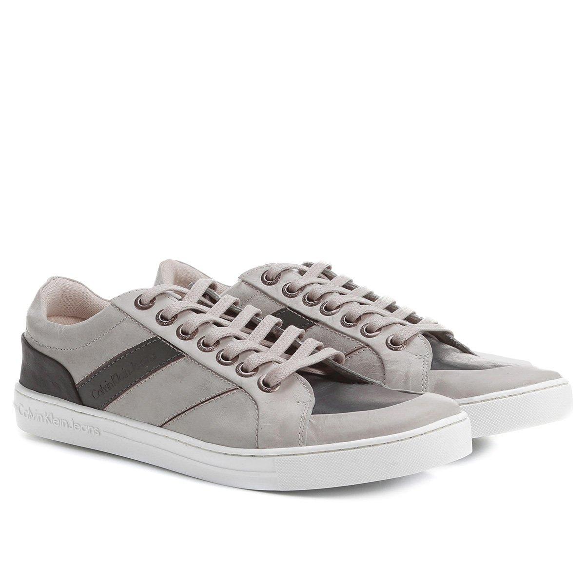 13671955cbff1 FornecedorNetshoes. Tênis Couro Calvin Klein Cano Baixo Masculino