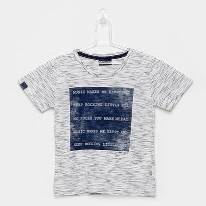 Camiseta Infantil Quimby Manga Curta Meia Malha