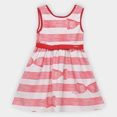 Vestido Infantil Quimby Regata Laço