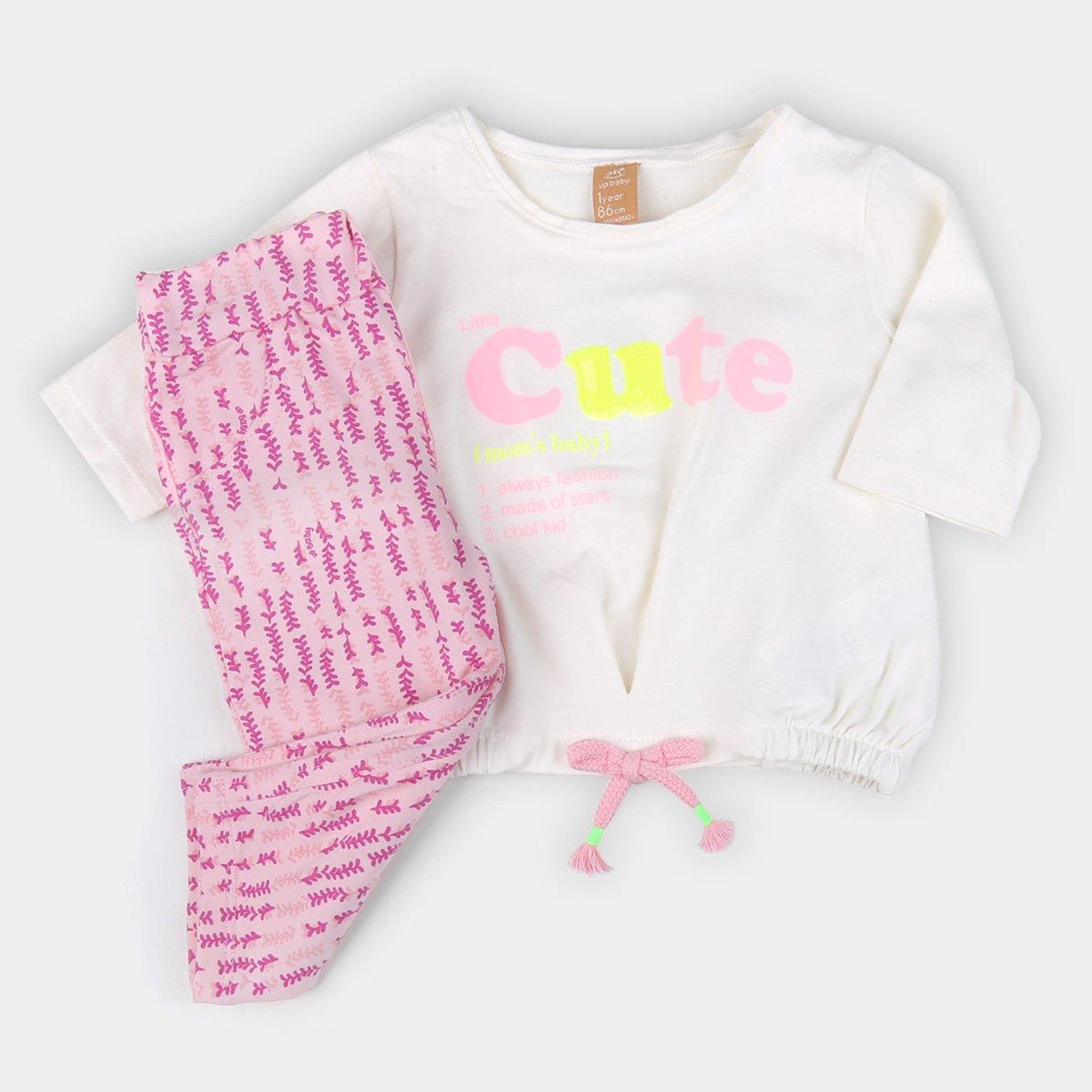 Conjunto Infantil Up Baby Estampado Feminino