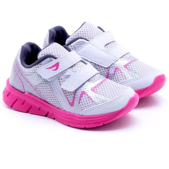 816808f2a Tênis Infantil Jogging Sport Ortopé Feminina - Branco e Pink ...