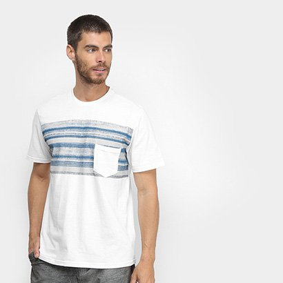 Camiseta Mood Com Bolso Masculina