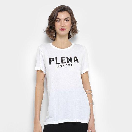c79bef45e Camiseta Colcci Estampada Feminina - Off White