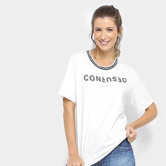 2f2218dff3 Camiseta Colcci Confused Gola Listras Feminina