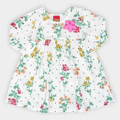 Vestido Infantil Kyly Manga Longa Floral