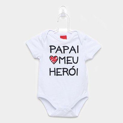 Body Infantil Kyly Curto Cotton Frases Feminino