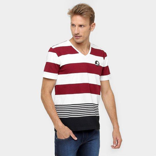 bcf1a7a0ab Camiseta Sommer Gola V Listras - Off White+Vinho