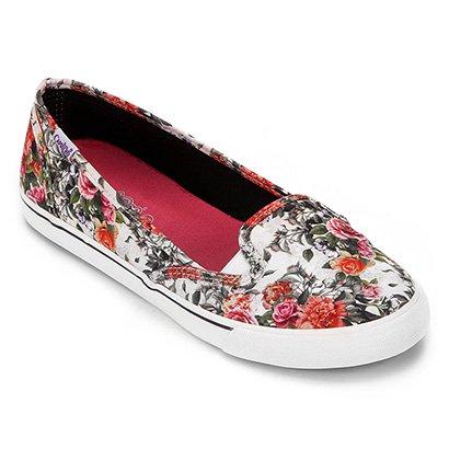 Slip On Capricho Boat Floral Feminina