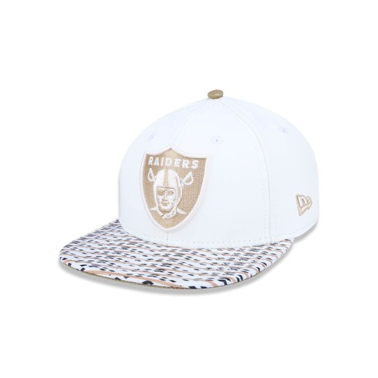 Boné 950 Original Fit Oakland Raiders NFL Aba Reta Snapback New Era - Off  White c64994e7860