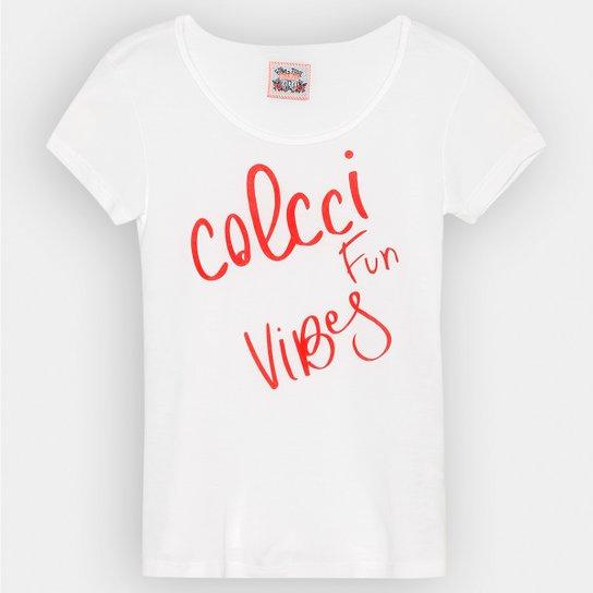 8779dbbff Camiseta Colcci Fun Basica Estampada Infantil | Netshoes