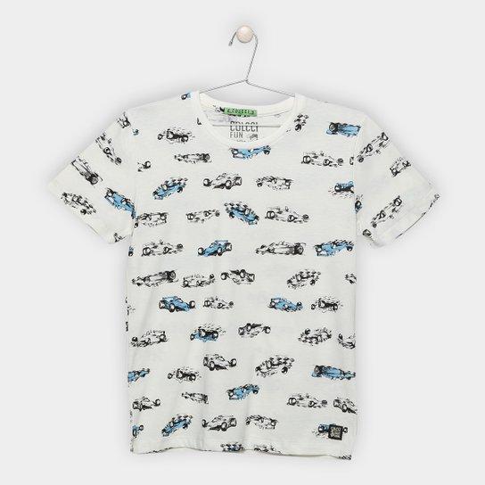 0b9284dc9 Camiseta Infantil Colcci Fun Estampada Masculina - Off White