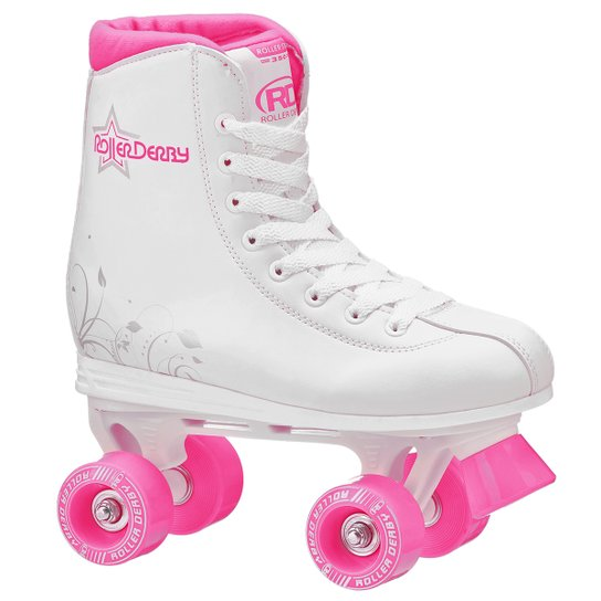 Patins Roller Derby Roller Star 350 - Branco e Pink - Compre Agora ... 4fa8beafc80