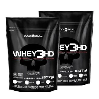 Kit 2X Refil Whey 3 Hd (837G) - Black Skull