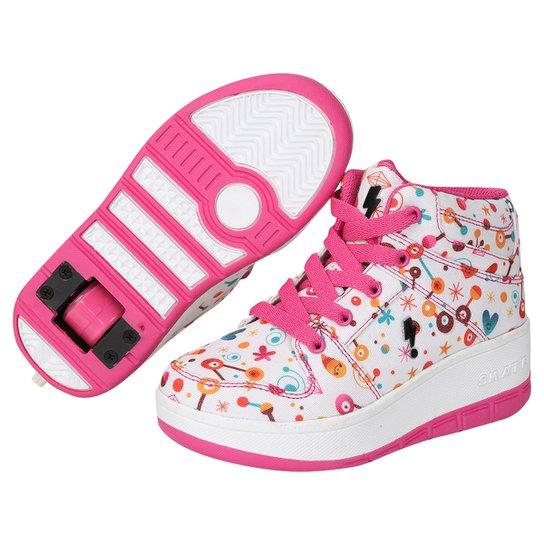 5fc03adef Tênis com Rodinha Zeep Starlight Infantil - Branco e Pink - Compre ...